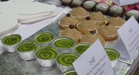 Green tea cheesecakes and Mont Blanc pastries